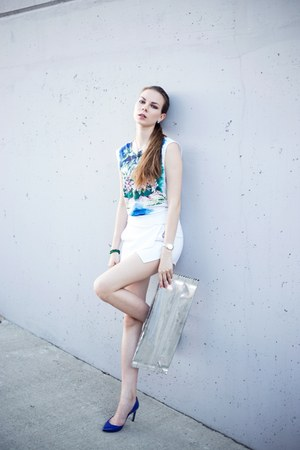Sheinside shorts - maison martin margiela bag - Stella McCartney top