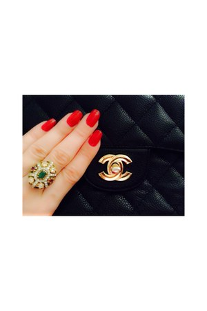 Chanel bag - vintage ring