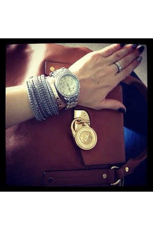 bracelet - Michael Kors bag - Michael Kors watch