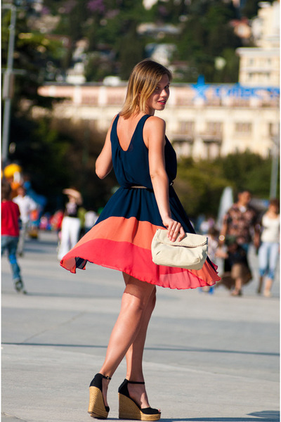 rainbow Love dress - Mango bag - Aldo wedges