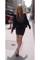 H&M skirt - Zara blouse - Rocket Dog shoes - Topshop necklace