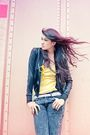 Yellow-giordano-top-black-mv-jacket-gray-sists-closet-jeans-black-new-look