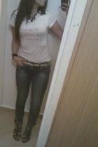 catalin botezatu shirt - Calliope jeans - Zara sandals