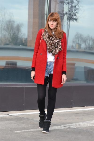 red PERSUNMALL coat