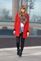 red PERSUNMALL coat