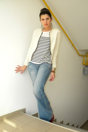 Zara blazer - Mango jeans - Michael Kors watch - Zara t-shirt - Zara wedges