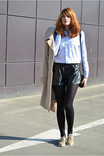 black leather Motivi shorts