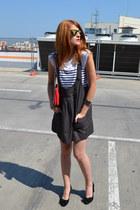 DKNY bag - mirror asos sunglasses - All Shoes pumps - breton Zara t-shirt