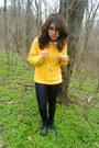 Black-black-boots-boots-yellow-sweater-white-latex-leggins-leggings