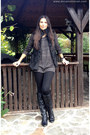 Black-bershka-boots-black-bershka-coat-black-zara-pants-gray-only-blouse