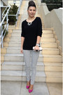 Black-stradivarius-pants-white-zara-blazer-black-only-blouse