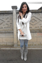 Zara dress - Stradivarius boots - Zara coat - meli melo necklace