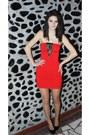 Short-red-dress-dress-bling-bling-accessorize-ring