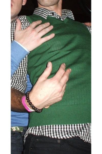 H&M vest - H&M shirt - Levis jeans - Street Vendor soho bracelet
