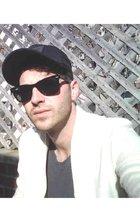 nike hat - Ray Ban sunglasses - American Apparel t-shirt - sweater