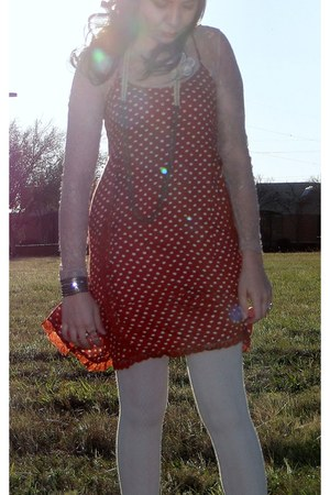 cotton Forever21 tights - cotton Urban Outfitters dress - Target hat