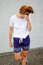 navy DIY shorts