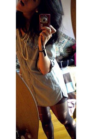 Zara tights - Mango jacket