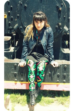 Freya boots - recycled vintage leggings