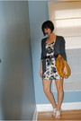 Gray-jcrew-cardigan-white-h-m-dress-gold-danier-bag-white-aldo-shoes-bro