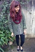 Forever 21 jacket - Forever 21 scarf - Forever 21 top - Ebay flats