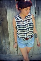 Forever 21 top - DIY shorts