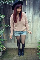 Forever 21 sweater - DIY shorts