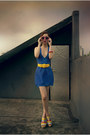 Blue-knitting-secret-wardrobe-dress-yellow-knitting-unknown-brand-belt