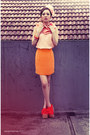 Bow-headband-unknown-hat-shocking-orange-unknown-brand-wedges