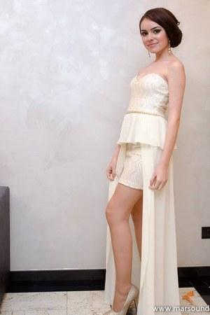 ivory sequinspeplum Atmosphere dress