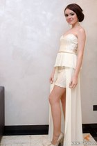ivory sequinspeplum Atmosphere dress