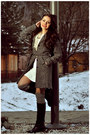 Black-leather-boots-white-lace-dress-new-look-dress-dark-gray-pimkie-coat