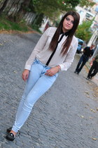 New Yorker shirt - IQ Shop shoes - pull&bear jeans - meli melo bracelet