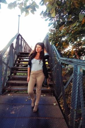 Bershka top - Bershka blazer - high-waisted H&M pants