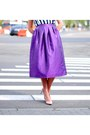 Deep-purple-radiant-orchid-tailor-made-skirt-navy-striped-stripes-zara-blouse