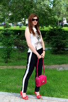 black sport New Yorker pants - hot pink Pro Fashion bag