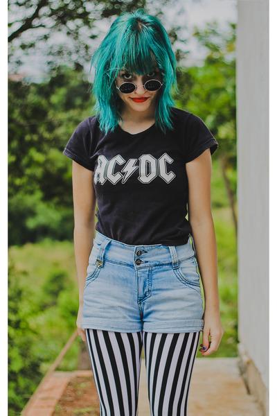 black ac-dc shirt shirt
