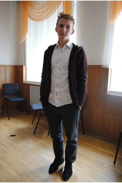 Stager shirt - carlo pazolini shoes - River Island jumper - benetton pants