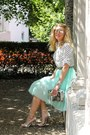 White-polka-dots-oasap-shirt-silver-manguun-bag-silver-zara-sandals