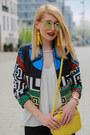 Shein-jacket-yellow-zara-bag-mirrored-dresslink-sunglasses