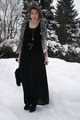 Black-h-m-dress-white-forever-21-cardigan-black-marc-jacobs-heels-silver-f
