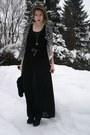 Black-h-m-dress-white-forever-21-cardigan-black-marc-jacobs-heels-silver-f