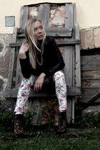 H&M jacket - asos leggings - Steve Madden boots