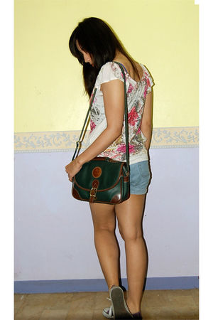 XXI blouse - Delsey accessories - shorts - shoes