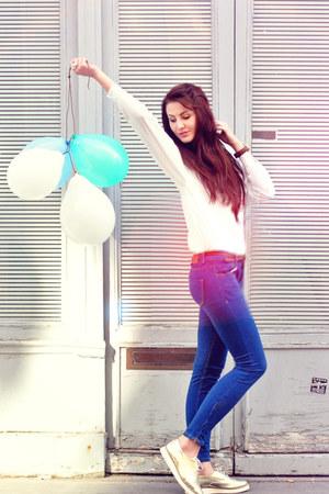 Zara jeans - Topshop flats