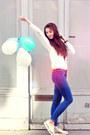 Zara-jeans-topshop-flats