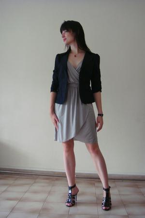 H&M dress - Esprit jacket - Charls&Keith shoes