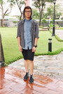 Black-dr-martens-boots-blue-cotton-on-shirt-black-topman-shorts