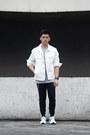 White-denim-forever-21-jacket-heather-gray-ribbed-river-island-shirt