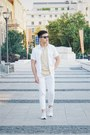 White-stretch-skinny-topman-jeans-white-topman-shirt